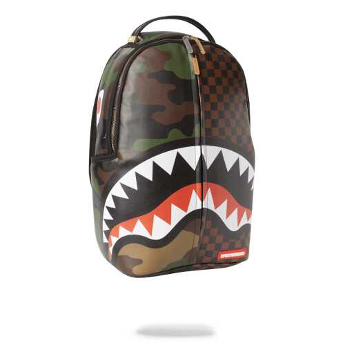 Sprayground Check & Camouflague Backpack