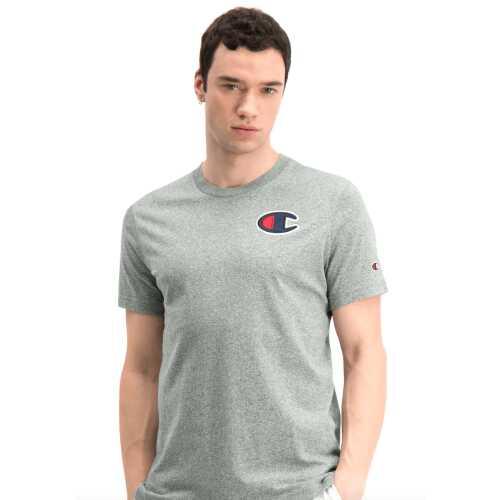 Men's Champion ROCHESTER 1919 Satin C Logo Crew Neck T-Shirt