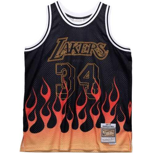 Men's Swingman Jersey Flames Shaquille O'Neal LA Lakers